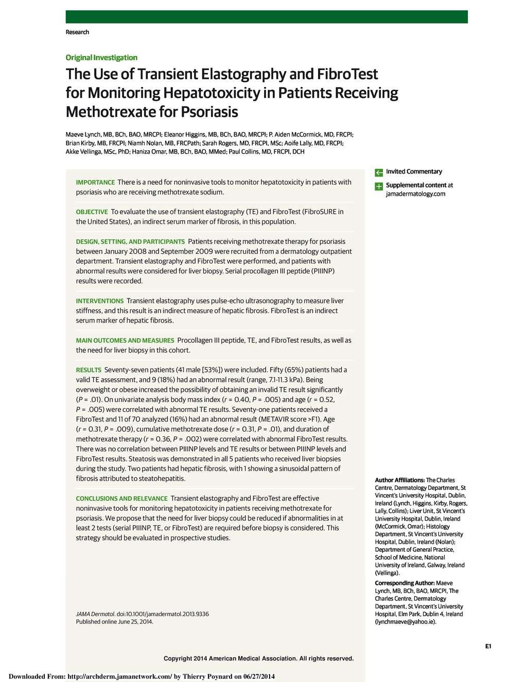 BioPredictive Library - FibroTest Publications